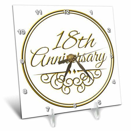 3drose 18th anniversary gift gold text for celebrating wedding anniversaries 18 years married together