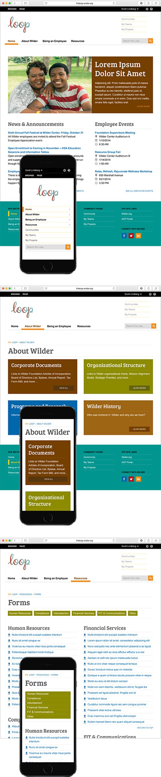 ideas about research companies the loop website for wilder research designed by the design company design website