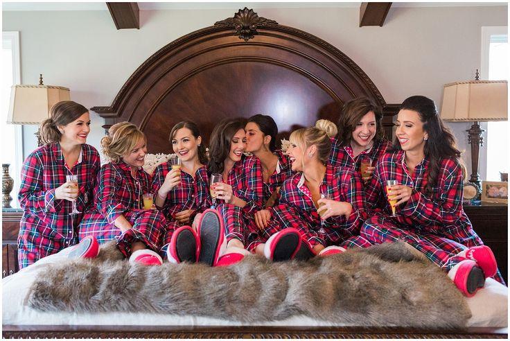 Bridesmaid matching pajamas
