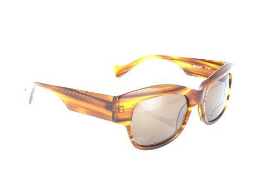 Jai Kudo Womens JK Prudence Brown - Grey Organic Sunglasses lenses 52 mm