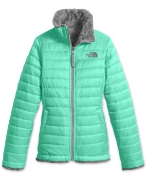 The North Face Mossbud Reversible Puffer Jacket, Little Girls (2-6X) & Big Girls (7-16) - Green XS