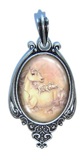 """Purrfect Friends"" Pendant Necklace ($20.00) http://aslanandleo.com/?product=purrfect-friends-beaded-necklace-pendant by Selina Fenech from the #FantasyArt range."
