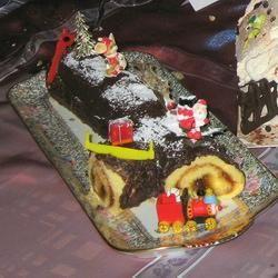 Tronco de Navidad con Nutella® @ allrecipes.com.mx