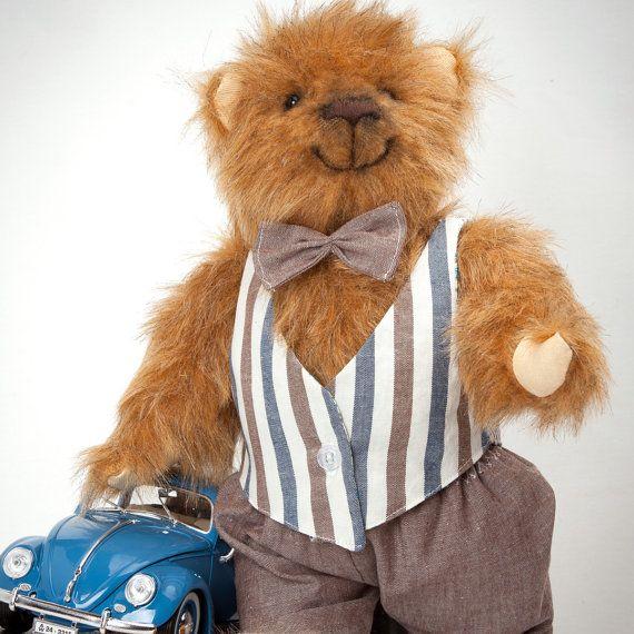 Fedor - Artist Teddy Bear with sound (growler) - 13,4 inches (34 cm) tall
