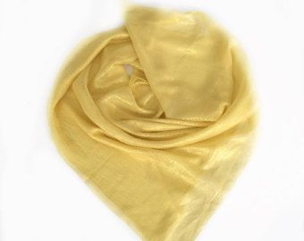 Check out Gold Scarf, Yellow Silk Scarf, Gift for Wife, Birthday Gift for Mother in law Sparkly Gift for Friend, Navy Blue Scarf, Striped Scarf on blingscarves