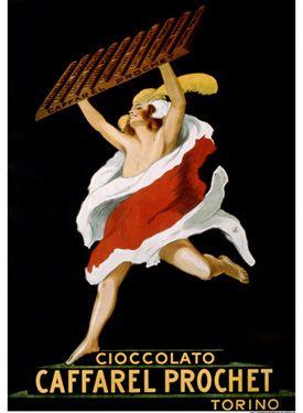Cioccolato Caffarel Prochet Vintage Poster Fine Art Print