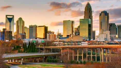 One of our favorite pictures of the Charlotte skyline.