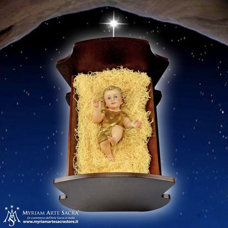 Culla in Legno per Gesù Bambino  Acquistabile su http://www.myriamartesacrastore.it/regali-di-natale/3738-culla-in-legno-per-gesu-bambino.html  #myriam #culla # cullainlegno #presepe #natività #gesùbambino #bambinello