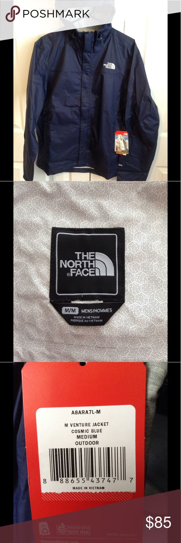 THE NORTH FACE Men's Jacket NWT.  ☔️Waterproof Men's Venture Jacket . Navy color .Never used.  ‼️SORRY NO TRADE‼️ The North Face Jackets & Coats Lightweight & Shirt Jackets