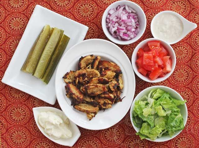 Spiced Shawarma Chicken Wraps Recipe - Jeanette's Healthy Living