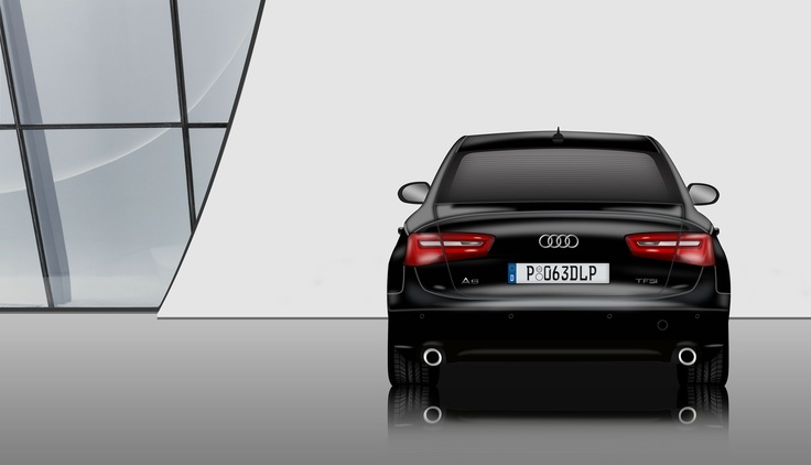 Digital Illustration Work - Audi A6