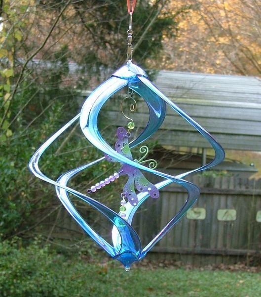 Dragonfly Blue Acrylic Wind Spinner