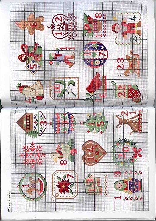 Orlanda: Cross Stitch Advent Calendar, Cross-Stitch, Xmas Cross Stitch ...
