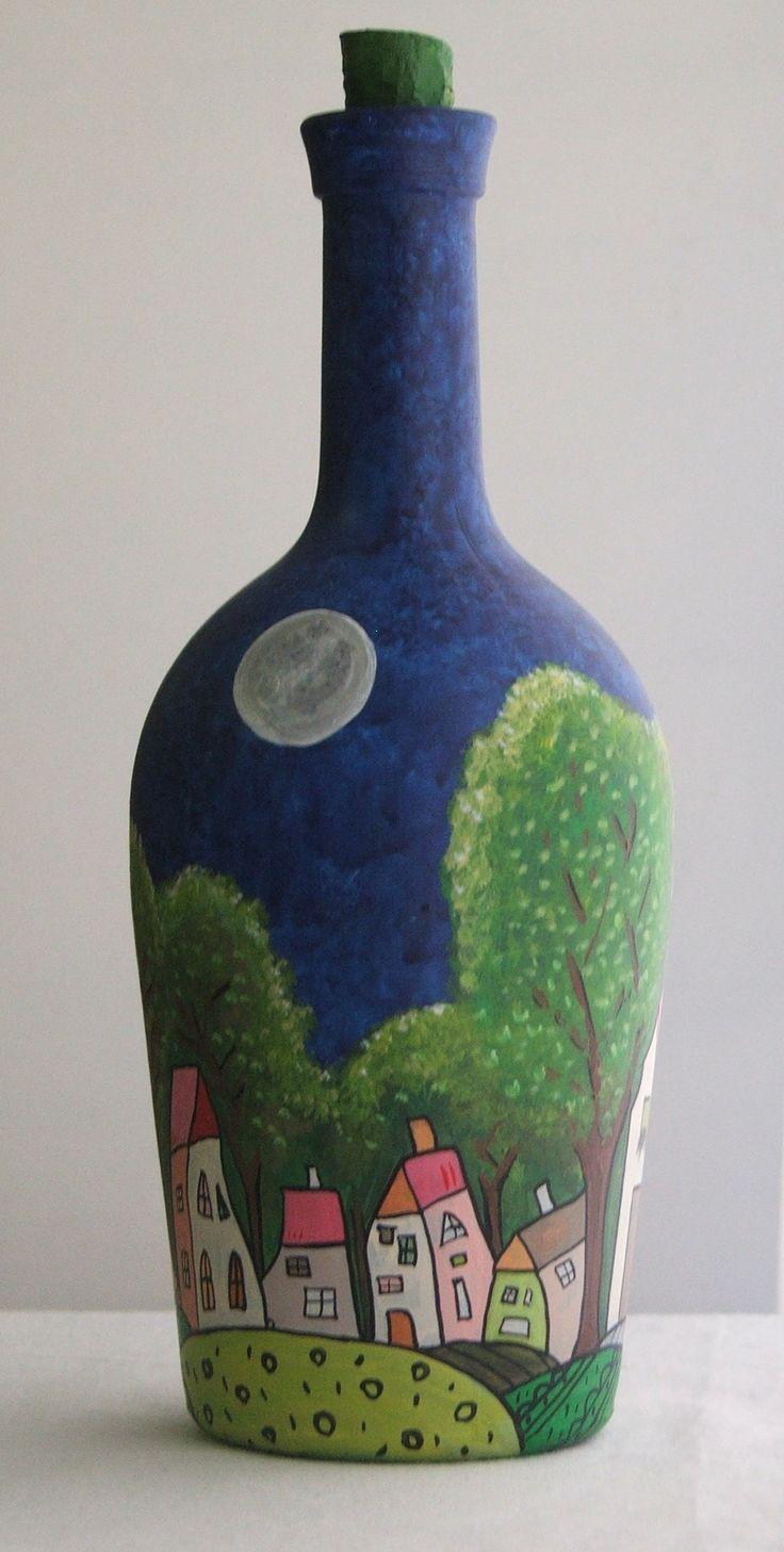 Botellas pintadas, $160 en https://ofeliafeliz.com.ar