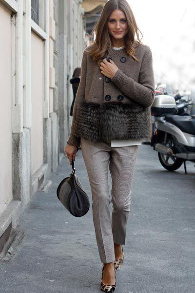Olivia Palermo: celebrity street style chic このコートかわいい