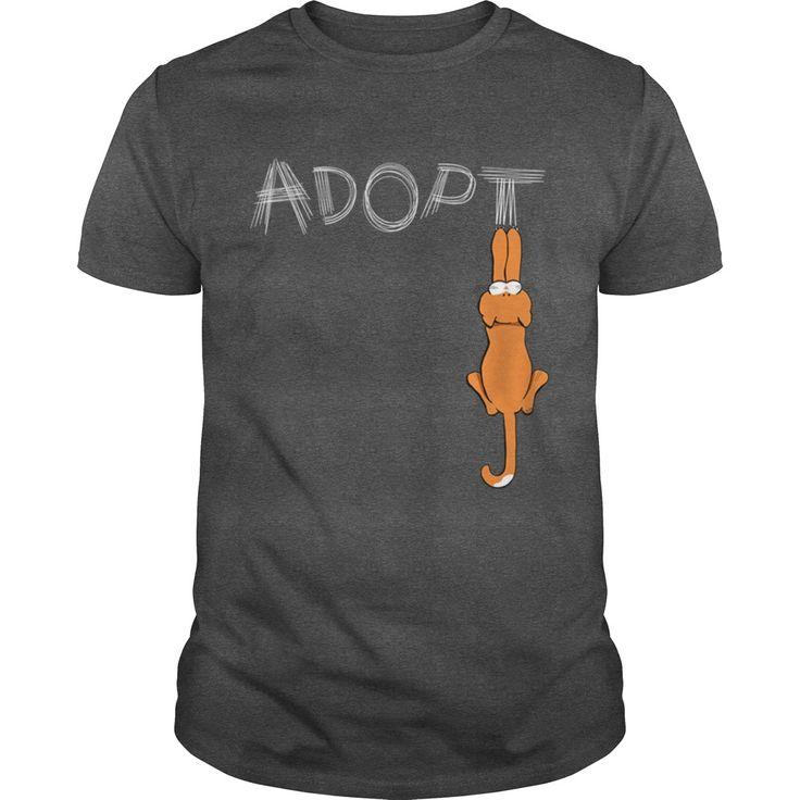 Adopt Cats Rusty Womens Dark T Grandpa Grandma Dad Mom Girl Boy Guy Lady Men Women Man Woman Cat Meow Lover