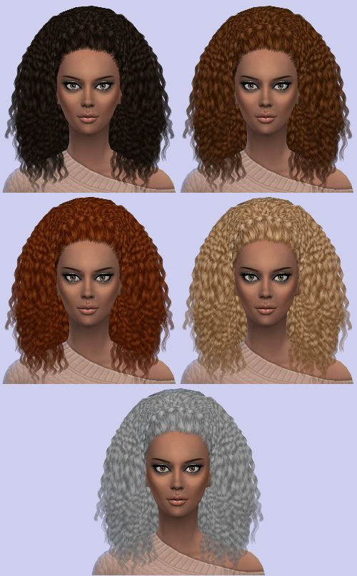 Thanks to mother's day and the kids giving me the day off, I found a work around for my conversion of Nouk's Kinky Curly hair.With the alpha issue, the braid was invisible, so I made it a hat with the simskin shader. The actual hair had