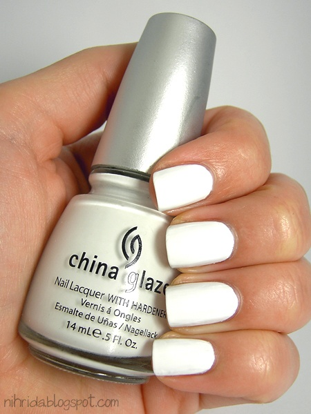 China Glaze - Snow...LOVE white nails!