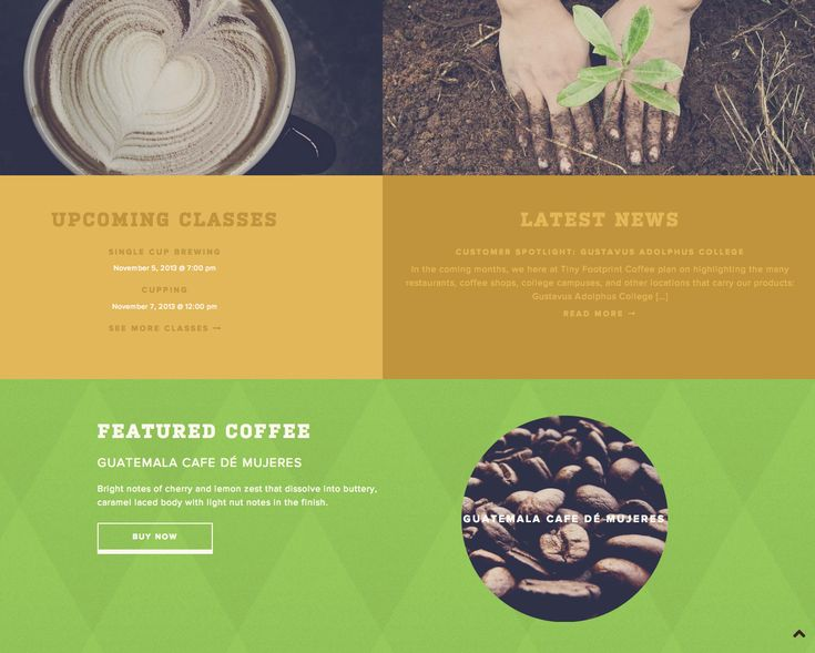 Tiny Footprint Coffee › Adorable Responsive Site