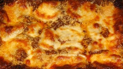 My favorite Lasagna - Lasagna Bolognese from Tyler Florence.  The bechamel makes it!