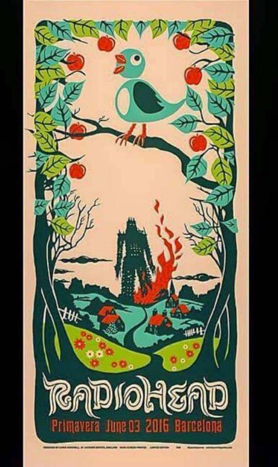 Radiohead gig poster.