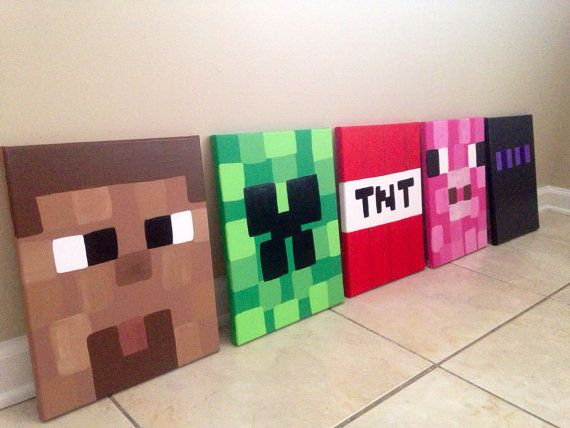 Minecraft Inspired Wall Art for Kids. on Etsy, $39.00