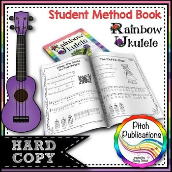Ukulele curriculum - these are GREAT student ukulele books. VERY comprehensive program! #elmused #elemenatary music #iteachmusic #pitchpublications #rainbowukulele