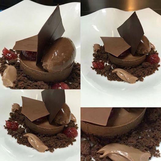 Chocolate fig tart⚡️⚡️. shortbread chocolate,ganache chocolate guanaja,fresh fig jam,sorbet chocolate #συκο #tart #chocolate #pastry #argiris_papastavrou #chefpatissier #valrhona #fig #ganache #shortbread #guanaja #συκα