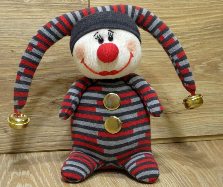 Клоун по мотивам игрушки Оксаны Ярмольник из НОСКОв