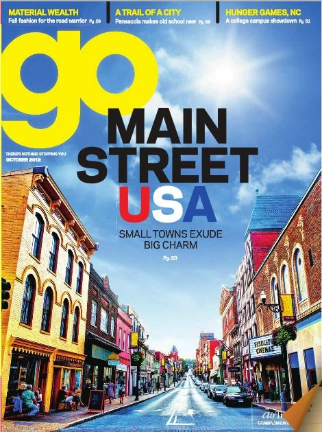 Front cover of Go, AirTran Airline's inflight magazine - October 2012  http://www.ink-live.com/emagazines/go-magazine/1200/october-2012/