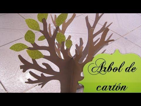 ▶ Árbol de cartón ♥. - YouTube