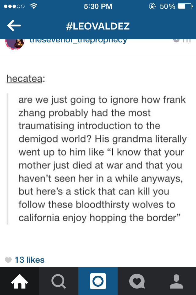 Seriously.... Frank is braver than he thinks 'cause he just went and acted like nothing had happened to him in Camp