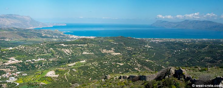 Polyrrinia Kissamos, West Crete. Greece. View from the top of the ancient castle.