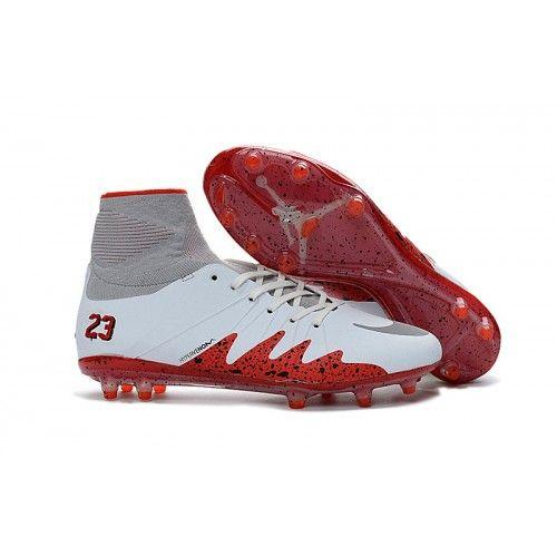 Nuovo Nike NJR x JORDAN Hypervenom Phantom II FG Scarpe da calcio Bianco  Grigio Rosso. Nike Football BootsHigh ...