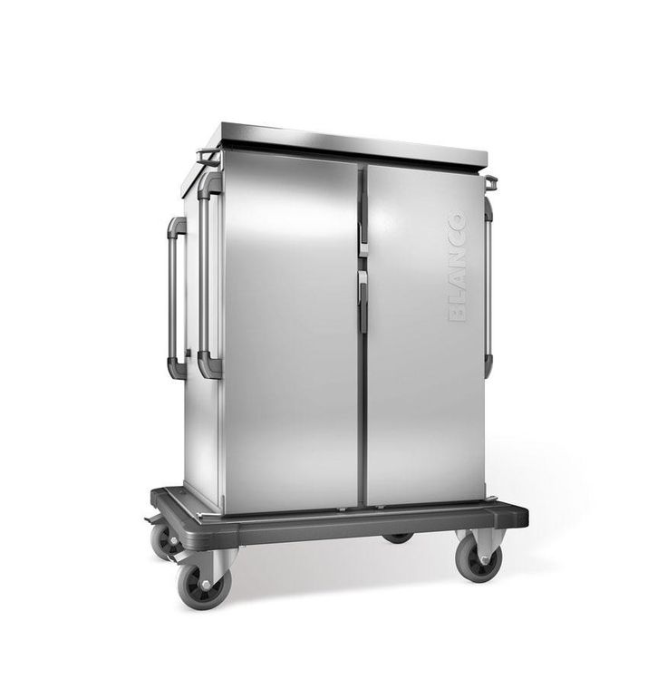GTARDO.DE:  Tablettwagen mit Kühlung, 16 EN-Tabletts, doppelwandig, 2 Schränke mit Flügeltüren, BxTxH 1122x783x1406 mm 3 706,00 €