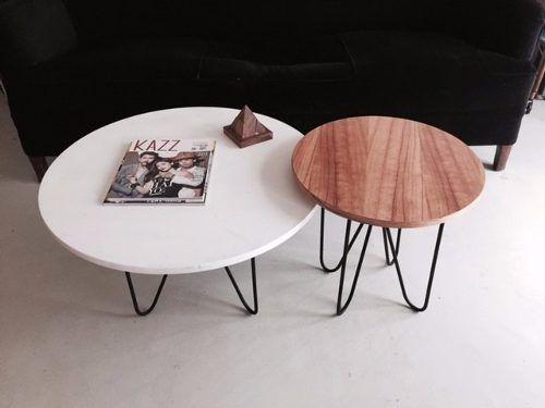 mesa baja de hierro y madera!
