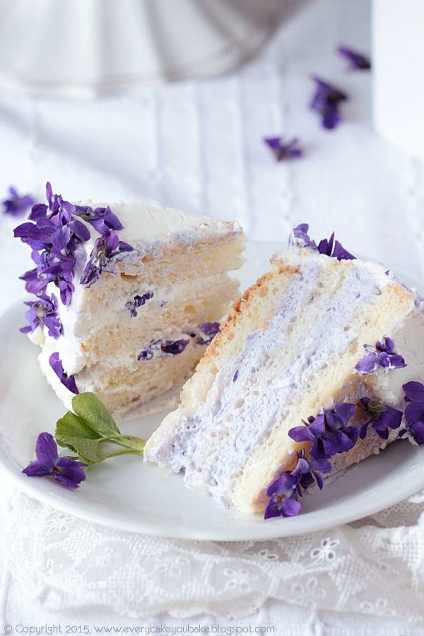 Tort fiołkowy II - Every Cake You Bake
