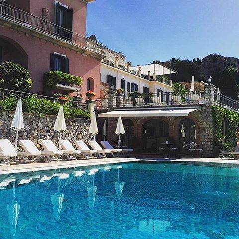 Soak up the last rays of the season and enjoy a dip in the heated pool!  #BelmondPostcards by @sammy7adams #Taormina #Sicly #Italy