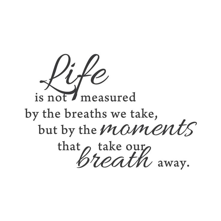 """""""Moments that take our breath away"""" Mount wall decal   lifestyle"""