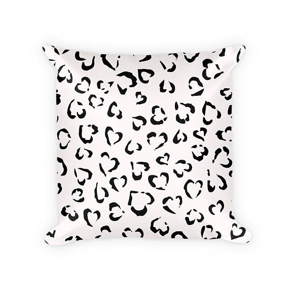 Leopard Print Throw Pillows   18x18 Throw Pillow Cover Set   Set of Two   Black & White   Animal Print   Accent Pillows   Decorative Pillows  These black & white leopard print throw pillows add a little bit of wild side to any room you're looking to spice up!
