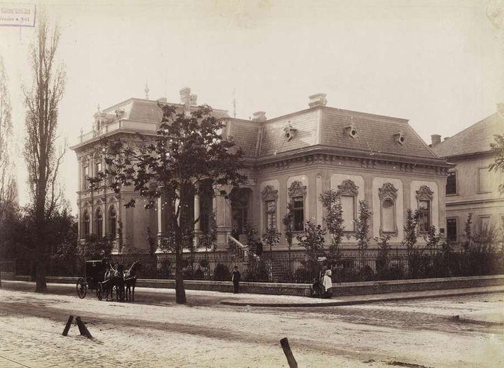 1890 után. Dózsa György (Aréna) út – Délibáb utca sarok, Greiner Adolf építész villája.