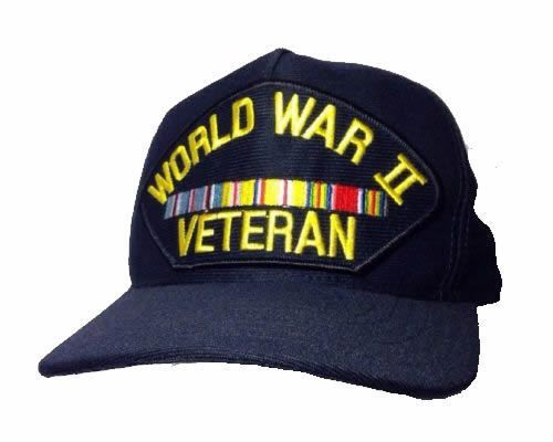 World War 2 Veteran Hat Vintage Snapback Made in USA WWII WW2 #EagleCrest