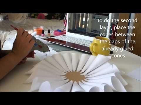 DIY : Cute Paper Flower Wall Decor, A Perfect Summer Project - YouTube