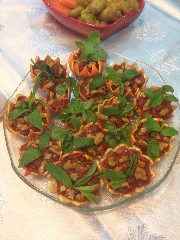 Portakal kabuklarından meze tabağı...