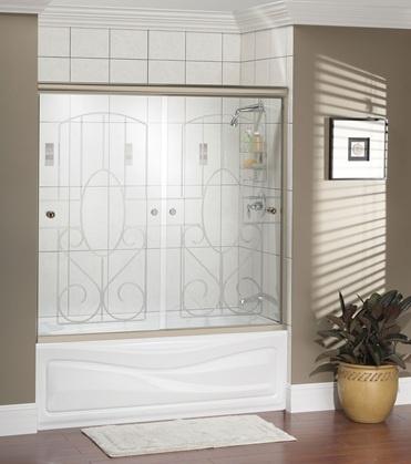 This pair shower sliding glass bottom guide damn
