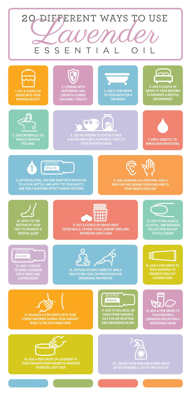 There are so many different ways to use Lavender essential oil. Try each of these different ways to make the most out of your bottle.