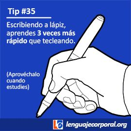Tip #35: Un hecho asombroso sobre escribir a lápiz
