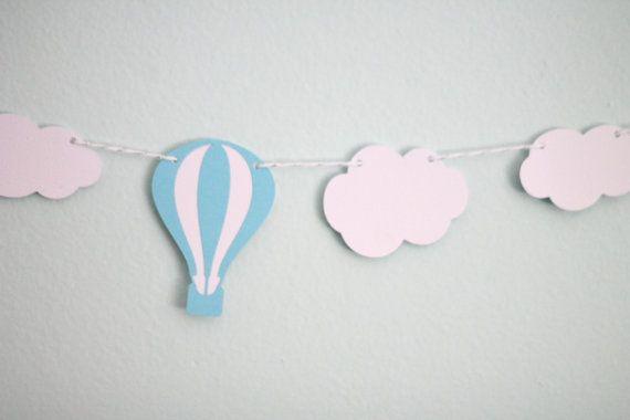 Aqua blue globo de aire caliente y nube guirnalda banderas boda nupcial Baby Shower fiesta de cumpleaños, día de san valentín decoración de la habitación en Artículos de Fiesta de Casa y Jardín en AliExpress.com | Alibaba Group