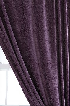 Textured Velvet Curtain. Purple Bedroom ...