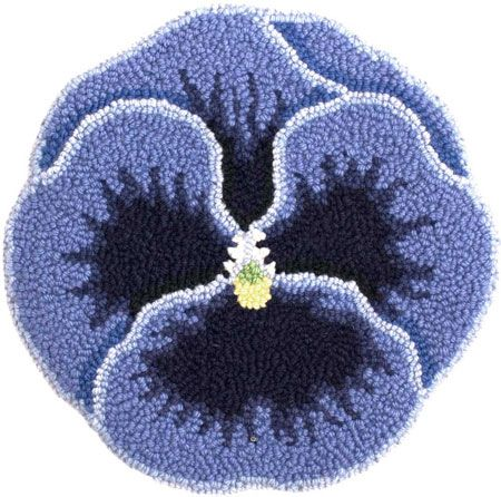 Pansy Chair Pad Pattern